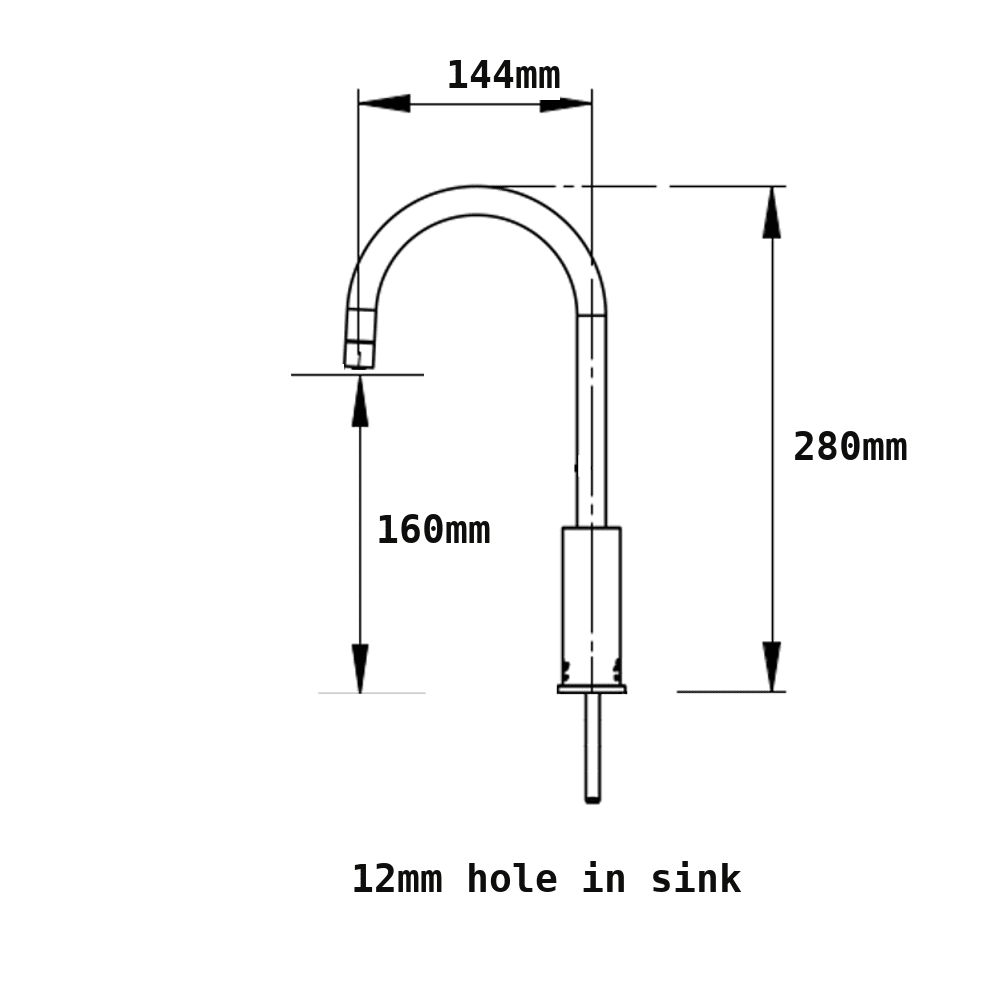 Deluxe-water-filter-tap-measurement