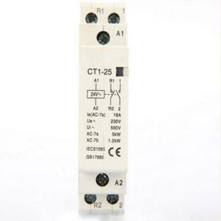 2 Pole 25A 240V Din rail AC contactor NO/NC