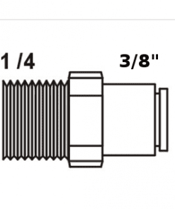 Tiger Straight Adaptor 3/8
