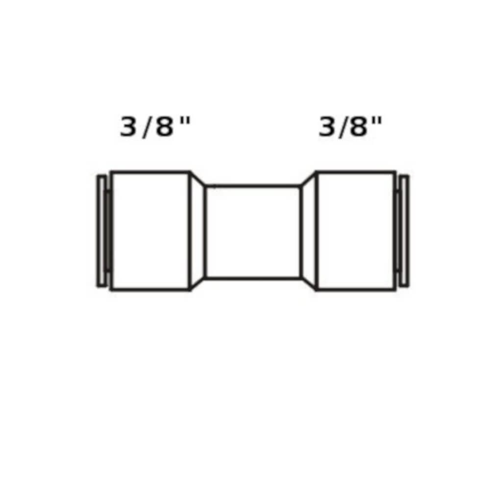 """Tiger Straight Adapter 3/8"""" tube x 3/8"""" tube connector"""