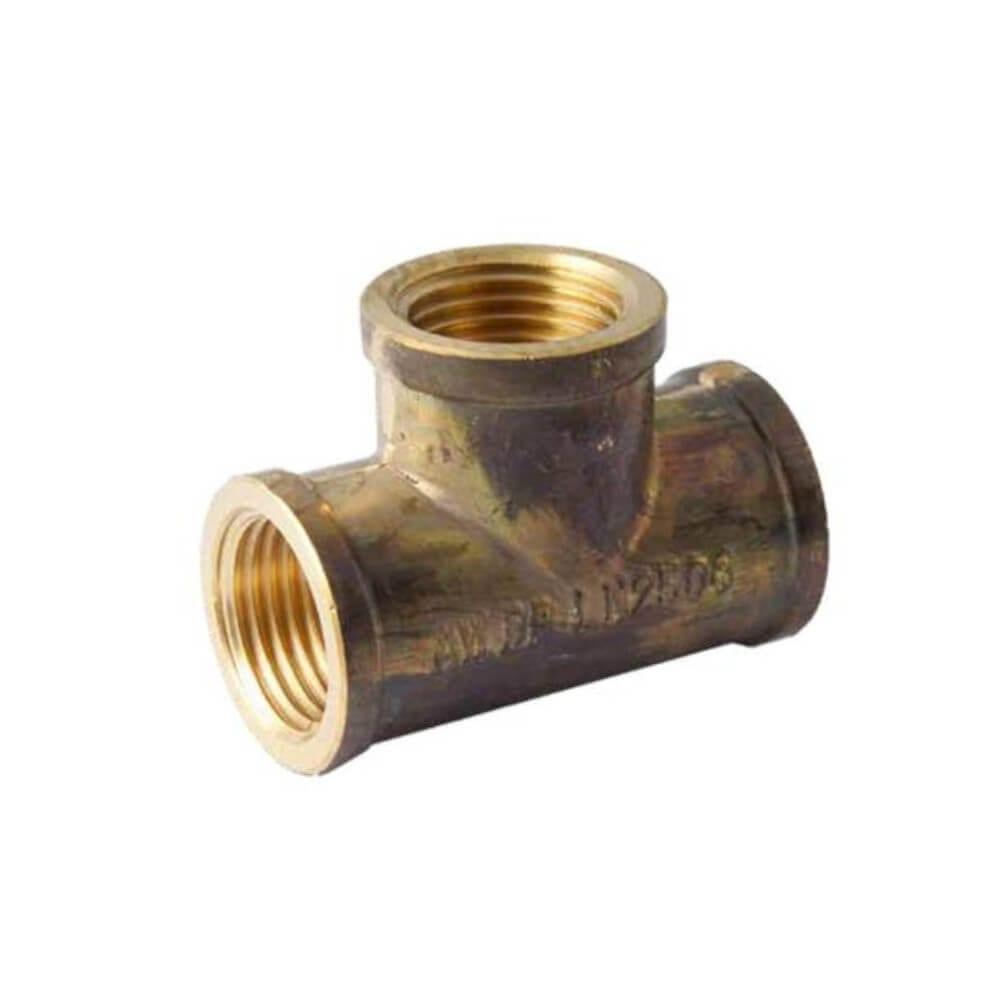 1-4-brass-screwed-tee